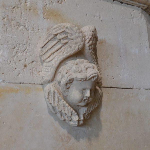 french limestone angel