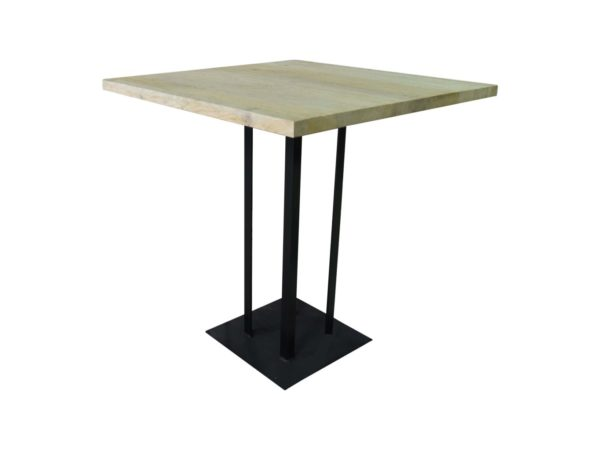 Oak and metal table