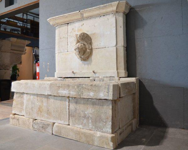 antique materials assembled fountain