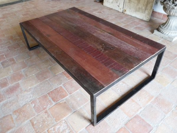 red wood large table