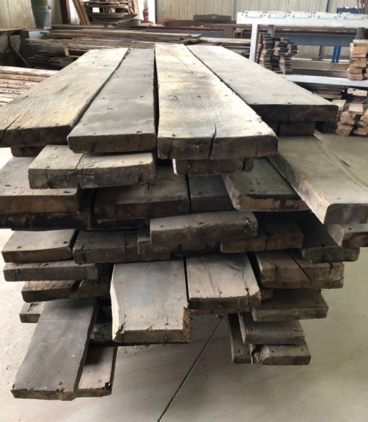 stock of antique old reclaimed oak