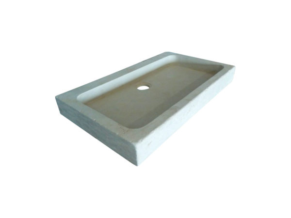 beige limestone washbasin for antique house