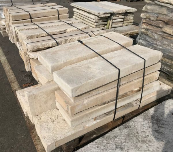 stock of antique limestone steps