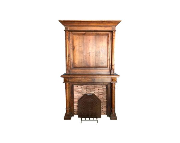 antique classic fireplace oak wood old