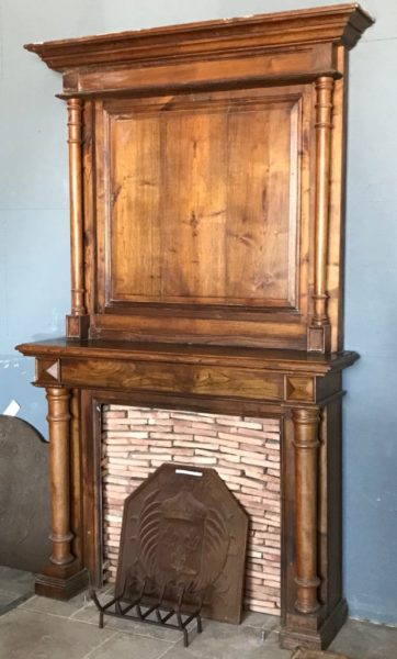 antique fireplace in oak for interior