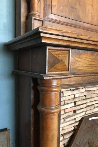 old school fireplace in oak