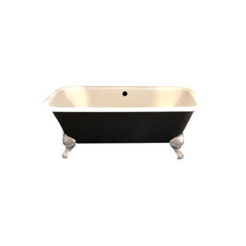 bathtub old style in antique black and white
