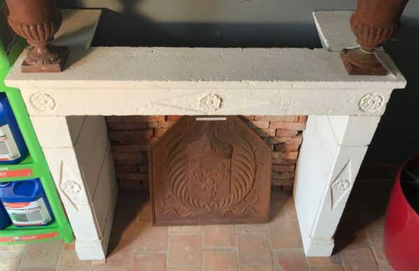 fireplace white stone from XIX century