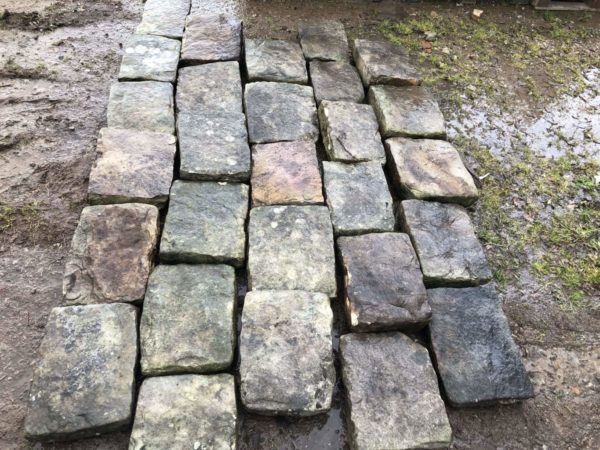 sandstone flooring for antique garden
