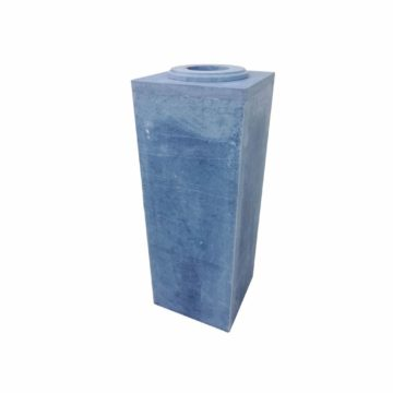 ashtray blue stone exterior area