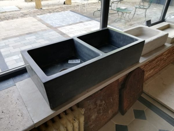 wash basin limestone double for kitchen or bathroom