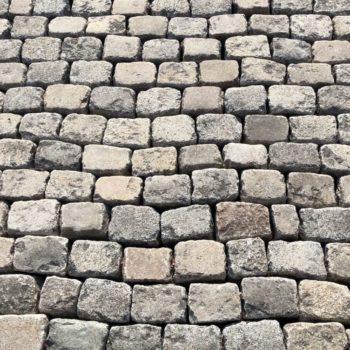 antique sett granite cobble stone