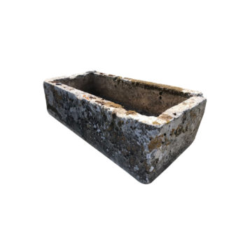antique french limestone horse trough
