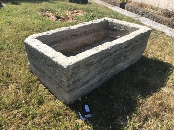 antique farmyard trough for exterior area