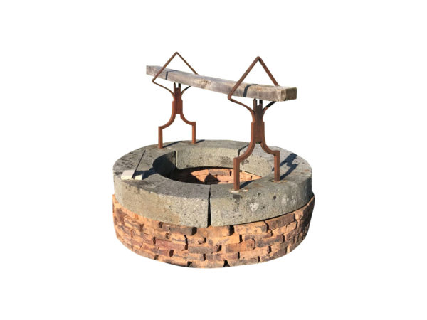 antique well-head-in-granite-iron-reclaimed-bricks