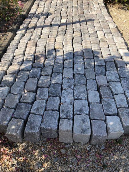 setts of antique cobblestone