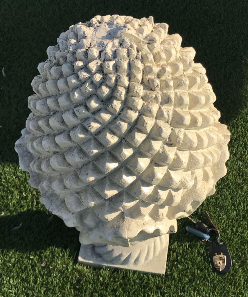 Pine Cone In Cast Iron Bca Antique Materials