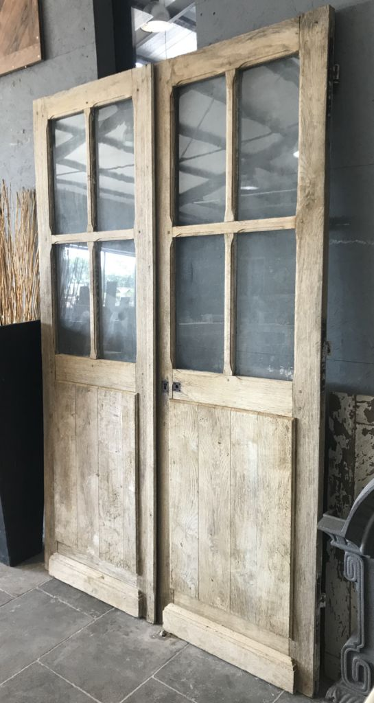 Antique Double Doors Glazed Panels Bca Antique Materials