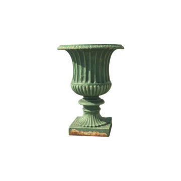 cast iron green vases for interior or exterior