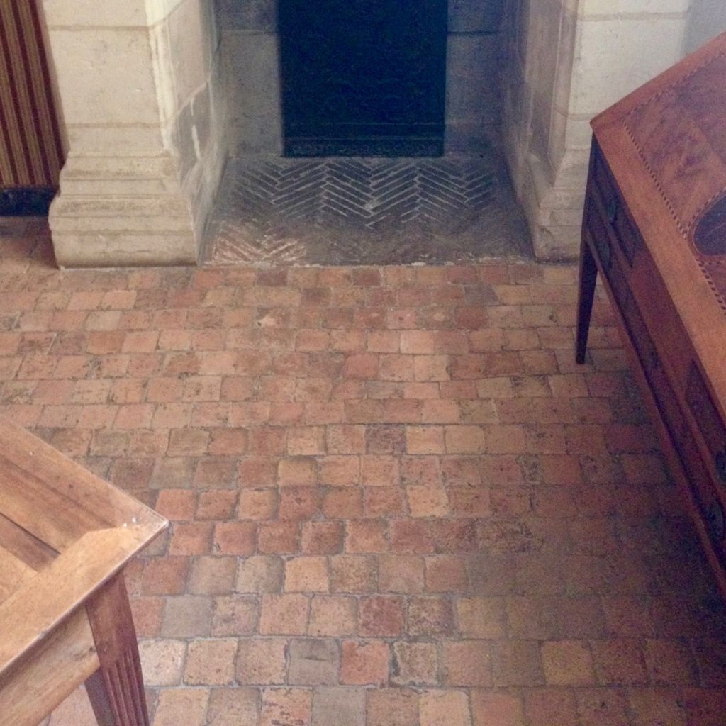 antique terra cotta floor from chambord