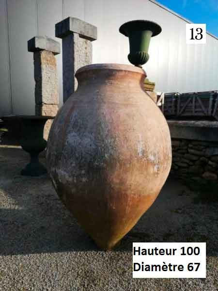 amphora jar in garden
