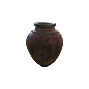 antique amphora vase style in brown
