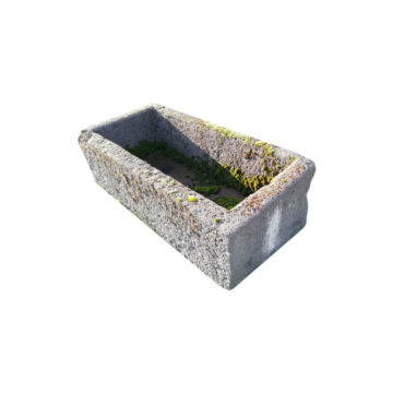 antique grey stone trough for garden