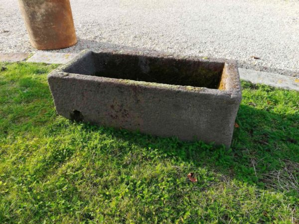 antique trough grey color for a nice garden decoration