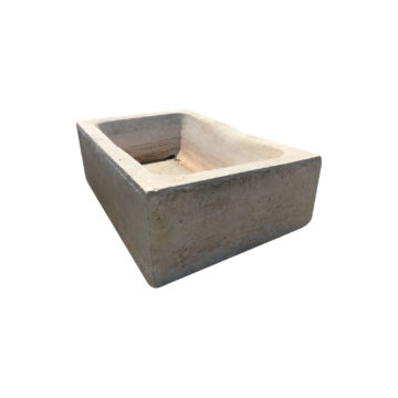 antique light tone limestone trough