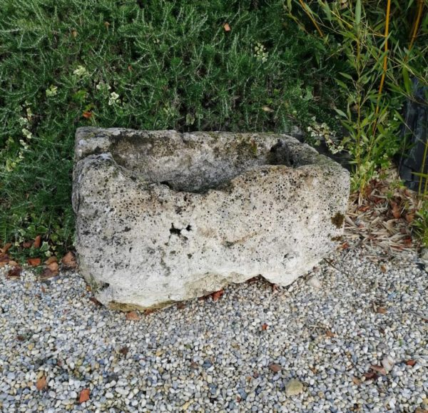 antique limestone trough for architectural decoration