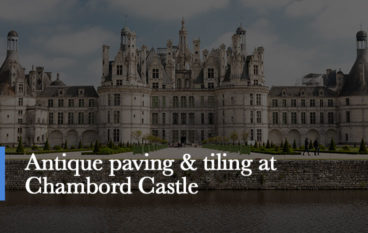 antique paving and tiling from chambord castle france