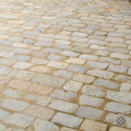 antique paving from chateau chambord