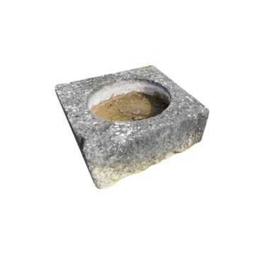 four ancient antique stone trough square form