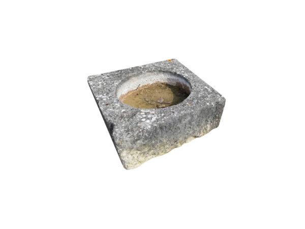four ancient antique stone trough square form