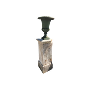 pedestal with antique patina