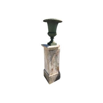 pedestal with antique patina