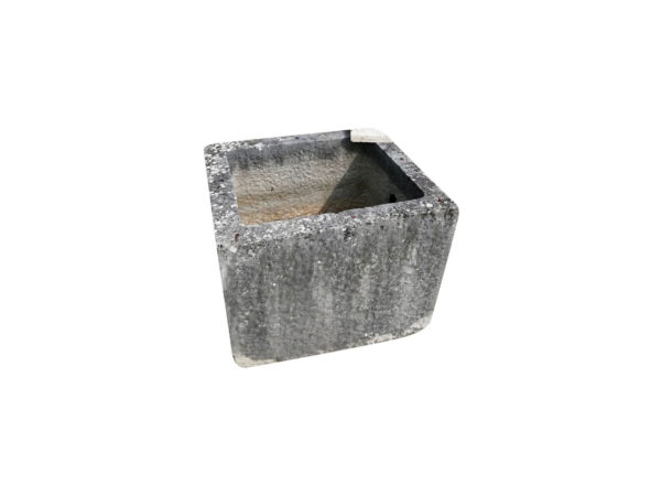 square antique trough dark stone