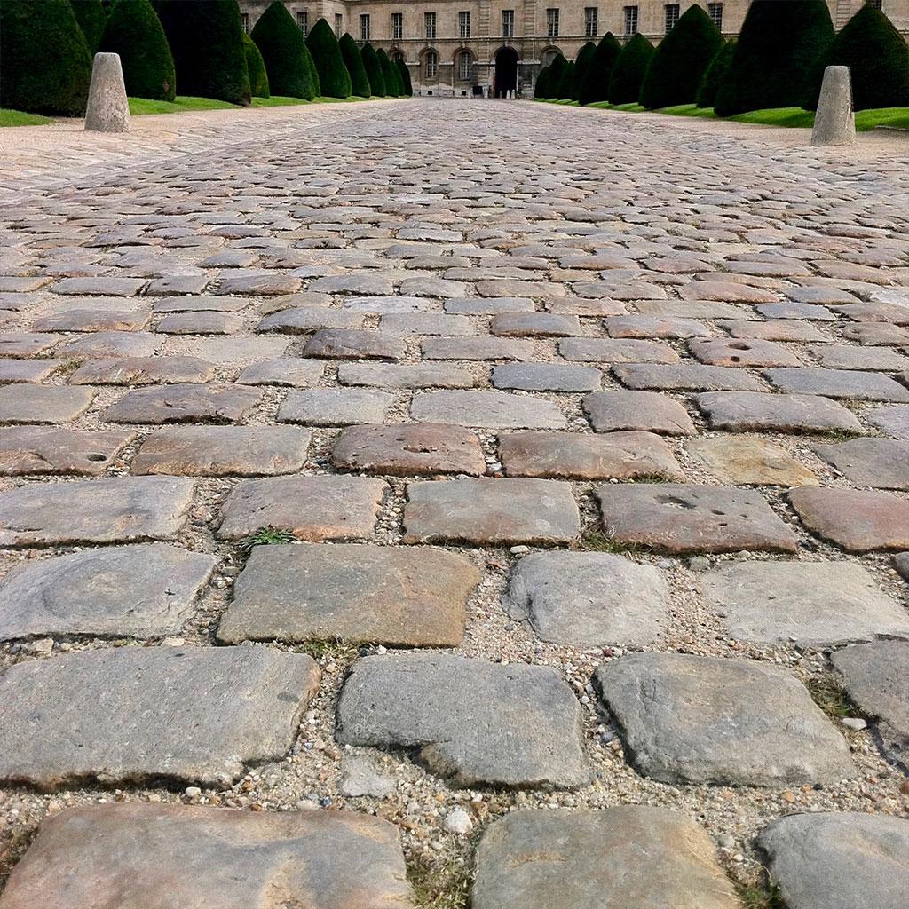 antique cobblestone from paris's cour