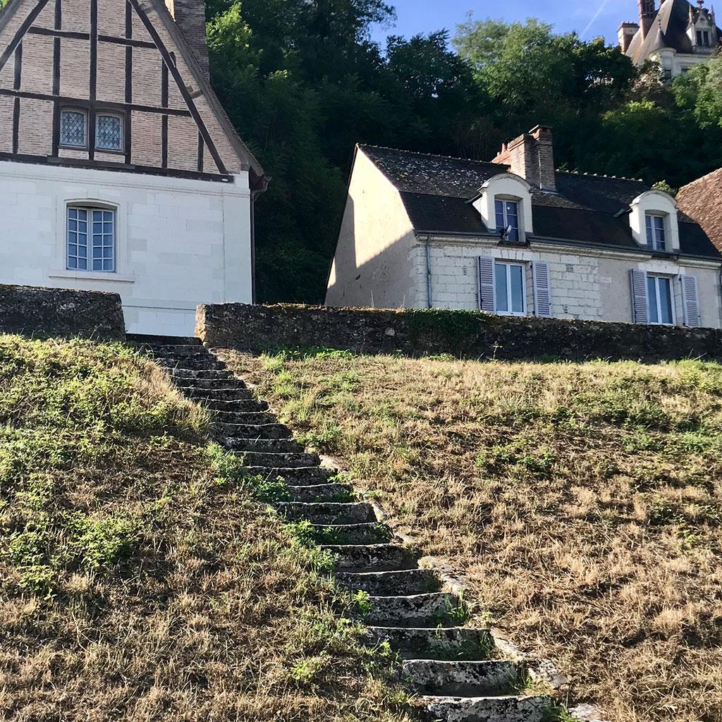 antique steps from chateau de chaumont