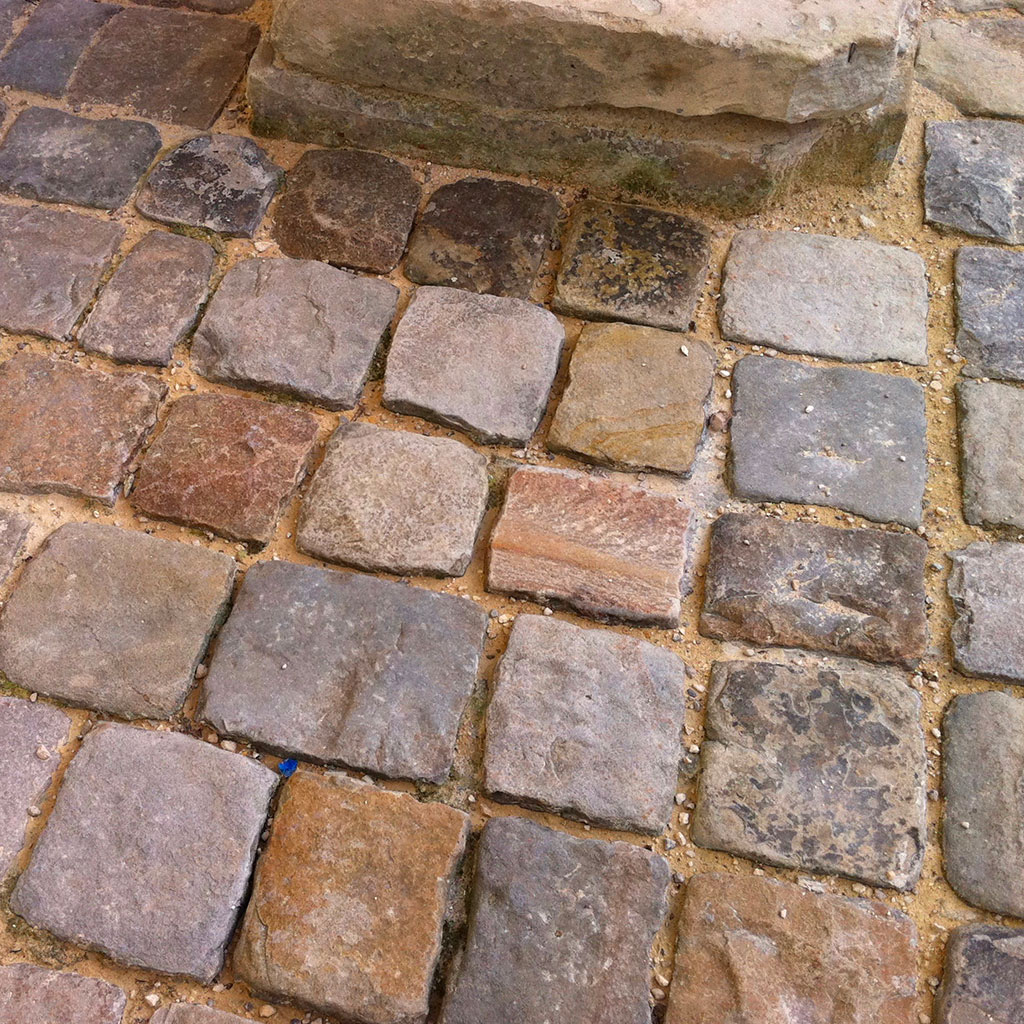 historic and authentic cobblestone at invalides