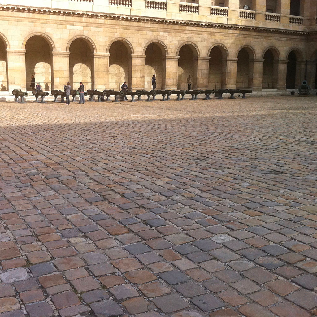 cobblestone at Invalides from Paris