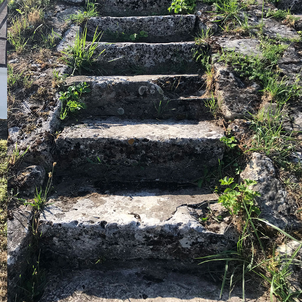 details of the limestone chaumont steps
