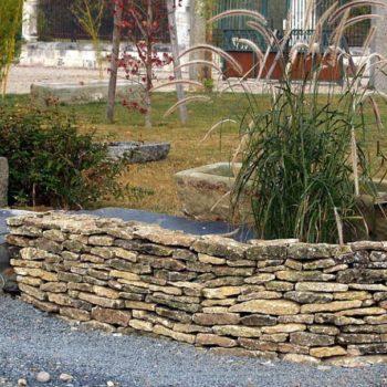 caen limestone walling
