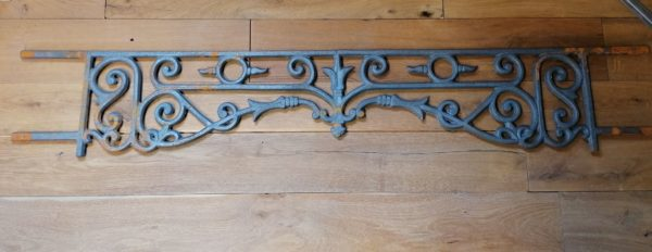 antique iron guard rails window support