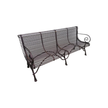 classic metal bench with 4 seats