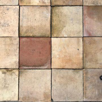 antique terra-cotta tiles in large dimensions