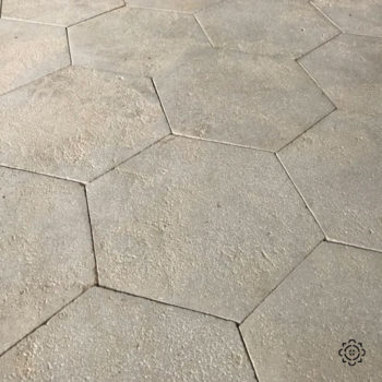 antiqued limestone hexagonal tiles equivalent materials
