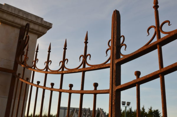 half part of the iron entrance gates