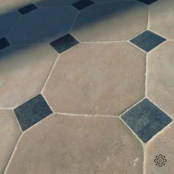 Patrimoine type of limestone cabochon floor