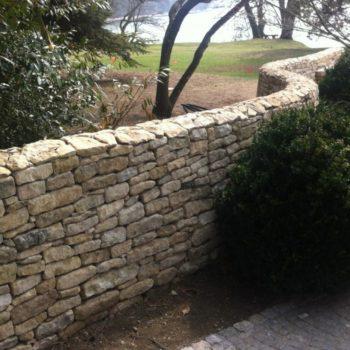 reclaimed limestone walling antique
